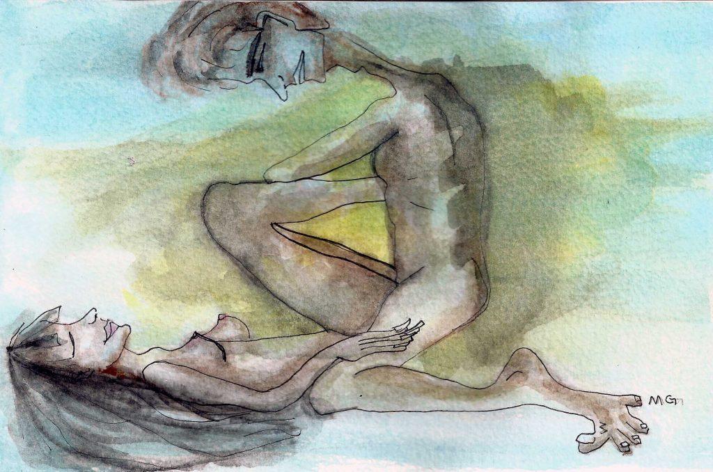 posição 1 - ilustrada por Maria Gabriela Rodrigues